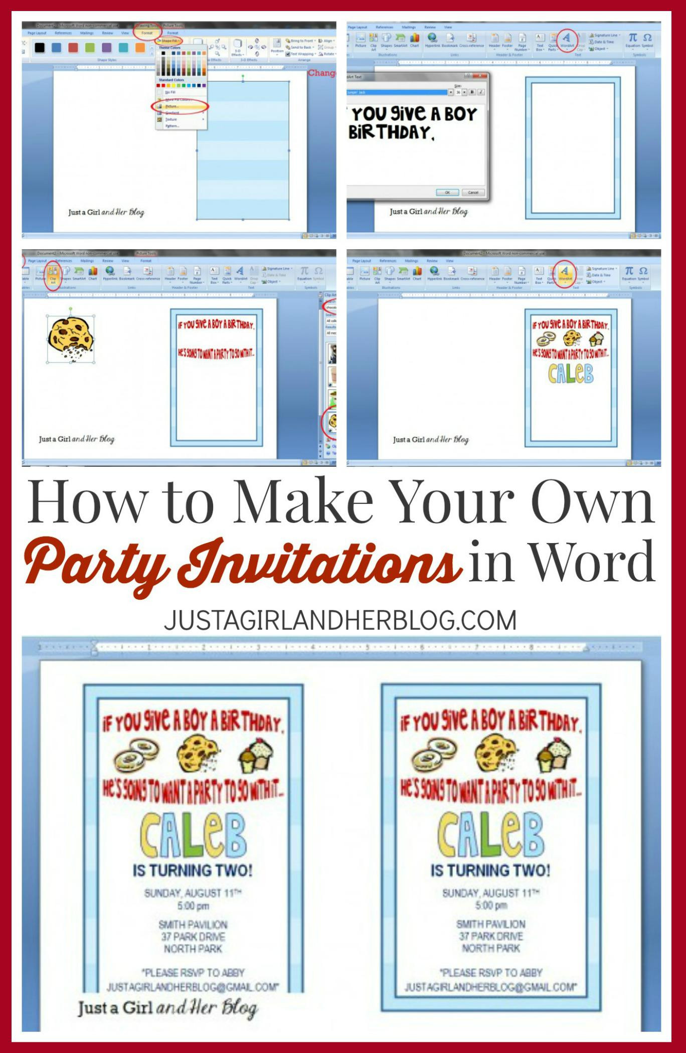 Create Birthday Party Invitations  Make Your Own Party Invitations