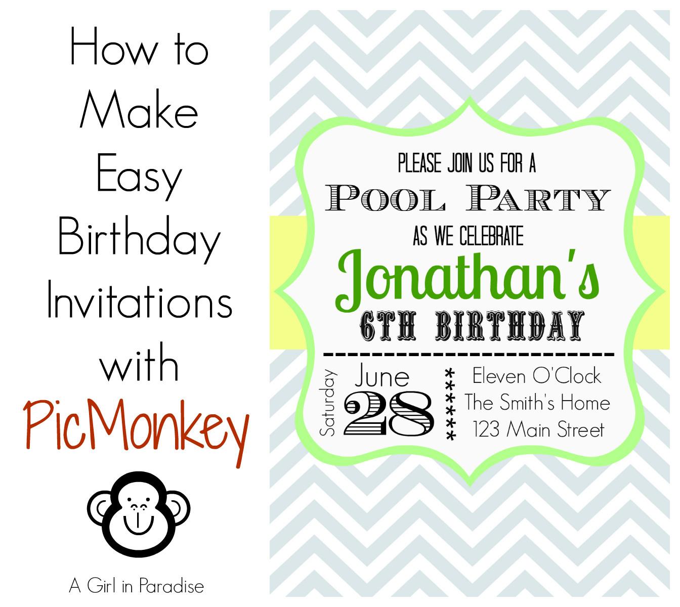 Create Birthday Party Invitations  How to Make Birthday Invitations in Easy Way