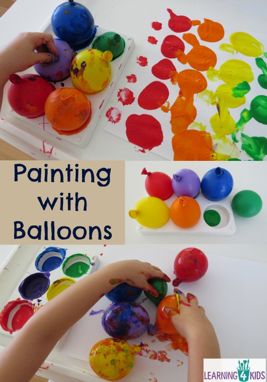 Best ideas about Creative Art Activities For Preschoolers . Save or Pin Painting with Balloons Now.