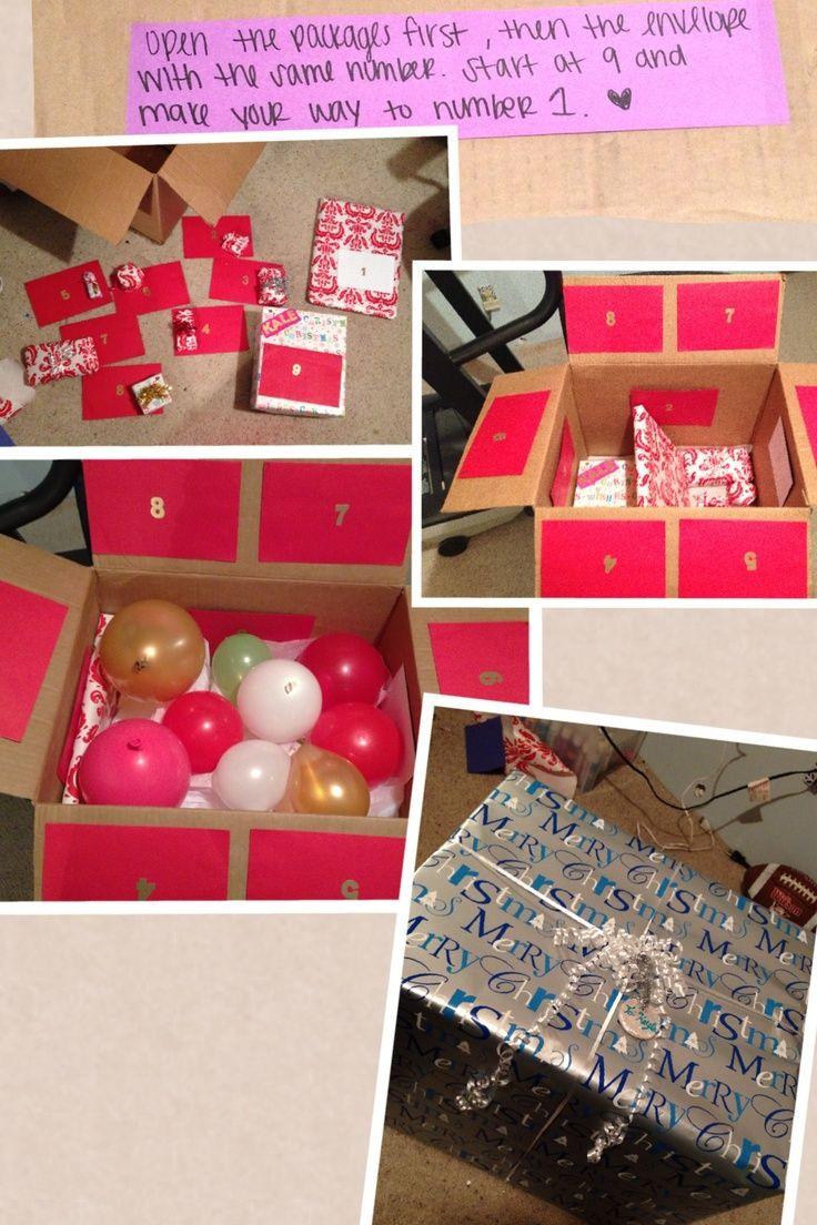 Creative Birthday Ideas For Boyfriend  Pin by Katie Gillespie on My Boo & I Pinterest