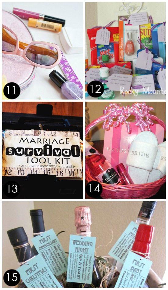 Creative Bridal Shower Gift Basket Ideas  60 BEST Creative Bridal Shower Gift Ideas