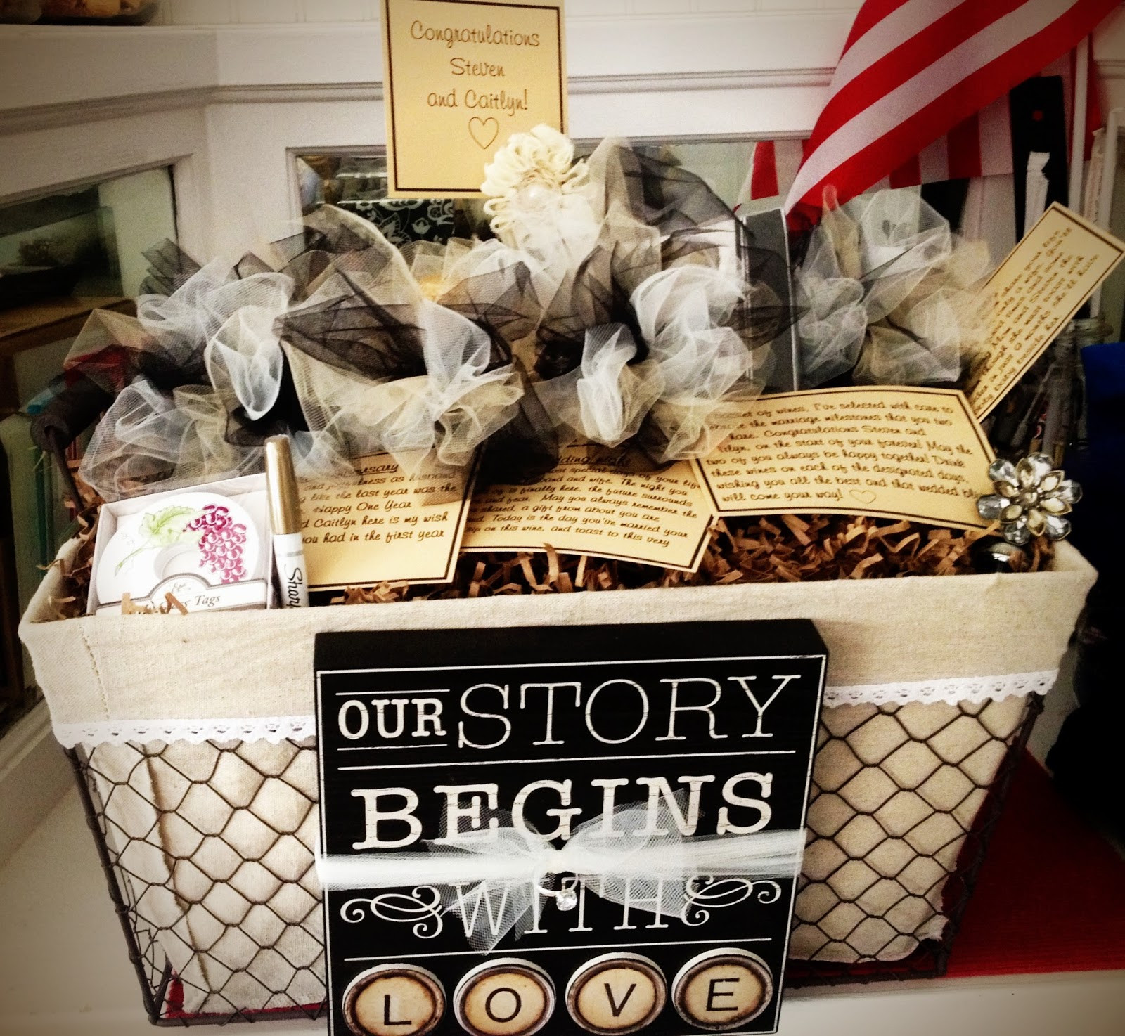 Creative Bridal Shower Gift Basket Ideas  Brid te's Pick of the Week – A Wine Basket of Firsts