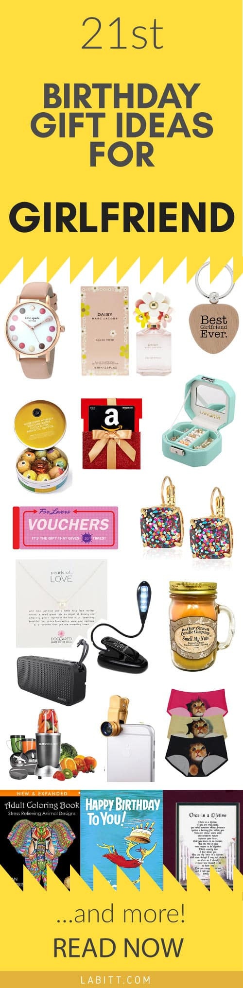 Best ideas about Creative Gift Ideas Girlfriend . Save or Pin Creative 21st Birthday Gift Ideas for Girlfriend 21 Now.