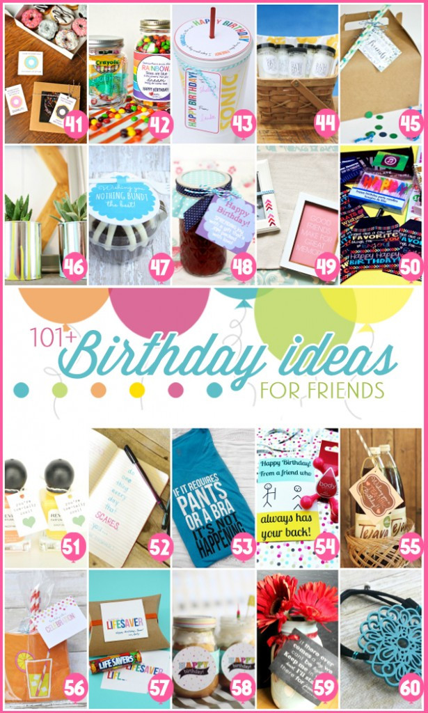 Best ideas about Creative Gift Ideas Girlfriend . Save or Pin 101 easy birthday t ideas and FREE printables Now.