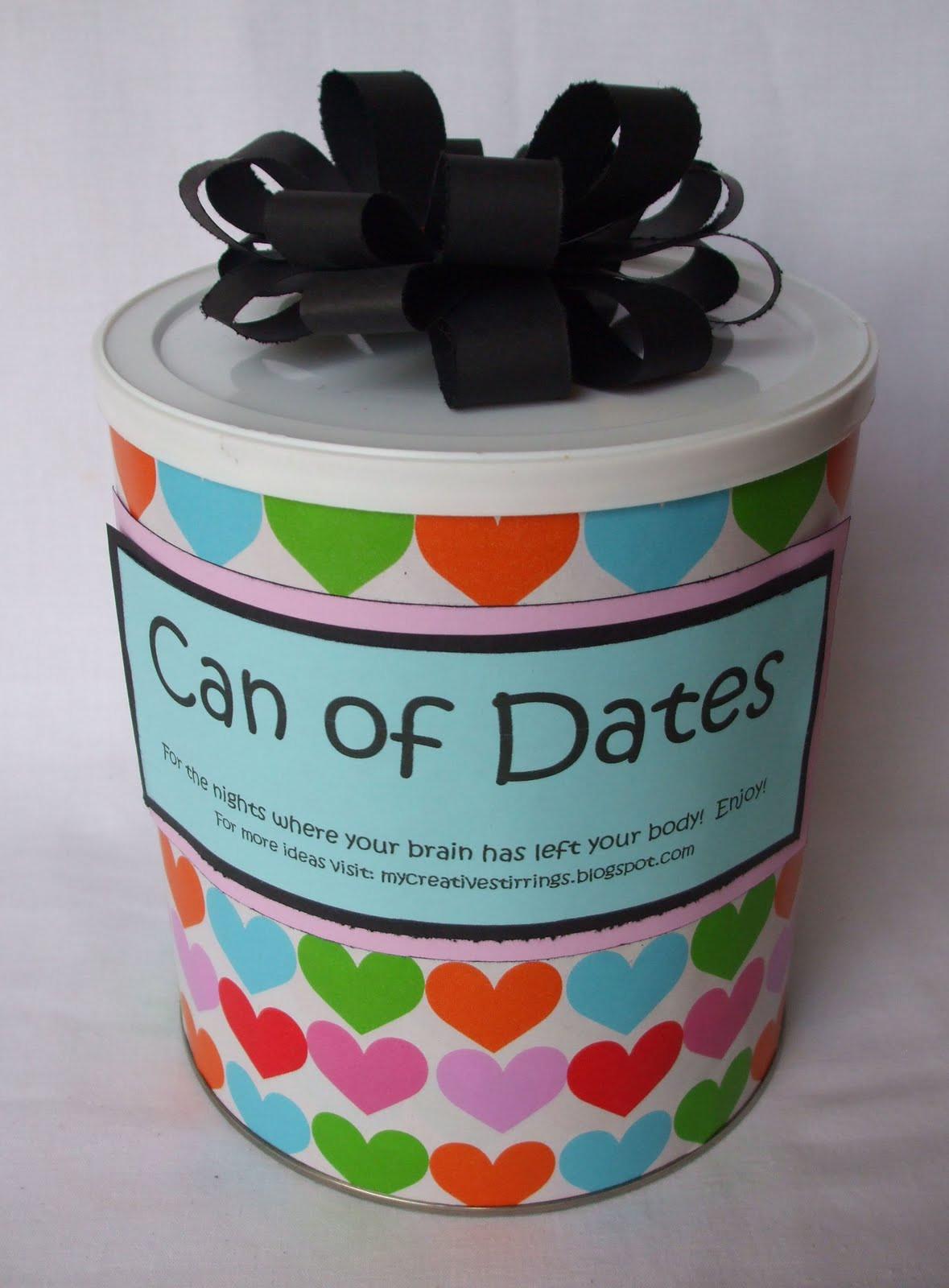Creative Wedding Gift Ideas  My Creative Stirrings Creative Wedding Gift Idea Can of