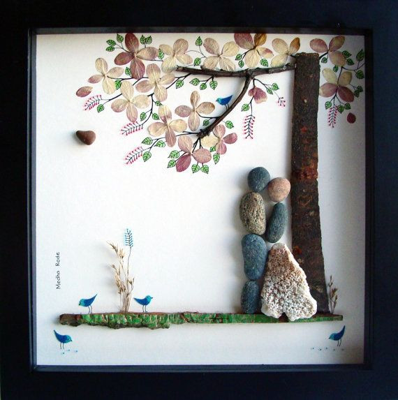 Creative Wedding Gift Ideas  Unique WEDDING Gift Personalized Wedding Gift Pebble Art