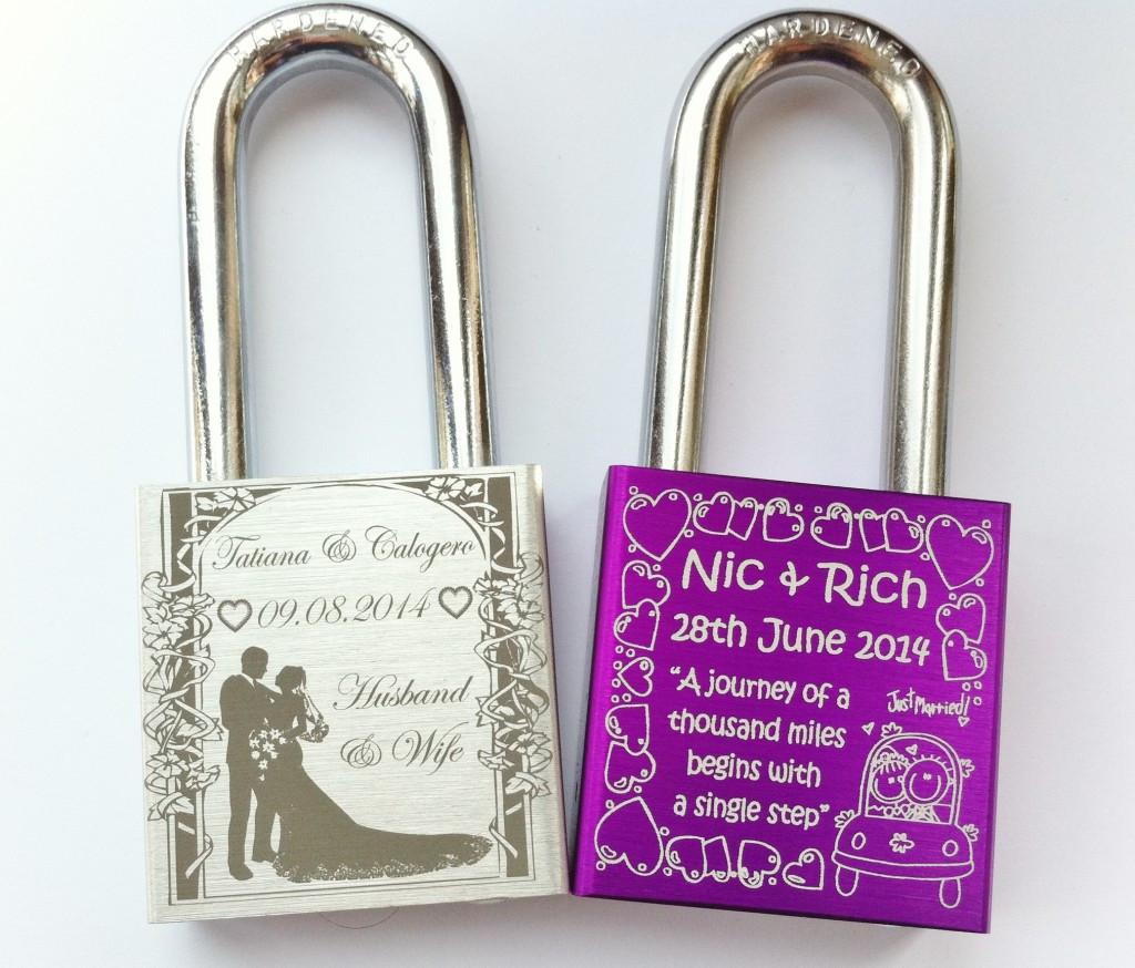 Creative Wedding Gift Ideas  Engraved Padlocks