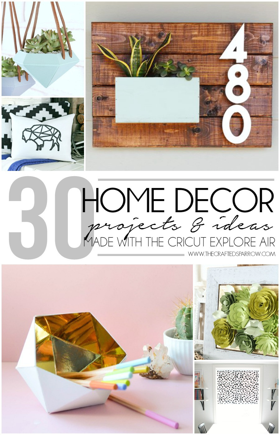Best ideas about Cricut Craft Ideas . Save or Pin 30 Home Decor Projects Made with the Cricut Explore Air Now.
