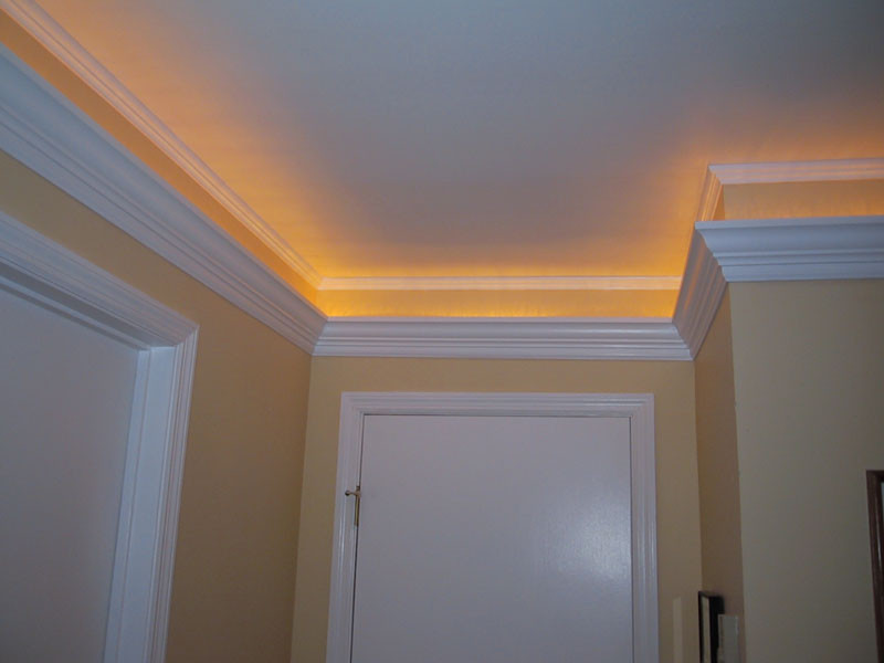 Best ideas about Crown Molding Lighting . Save or Pin Ideas & Design Installing Crown Molding Interior Now.