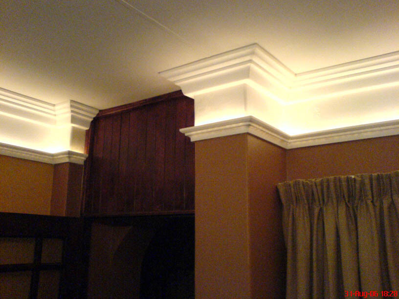 Best ideas about Crown Molding Lighting . Save or Pin Rope lighting 220 volts WinLights Now.