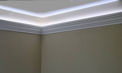 Best ideas about Crown Molding Lighting . Save or Pin Install LED rope and indirect lighting in foam crown molding Now.