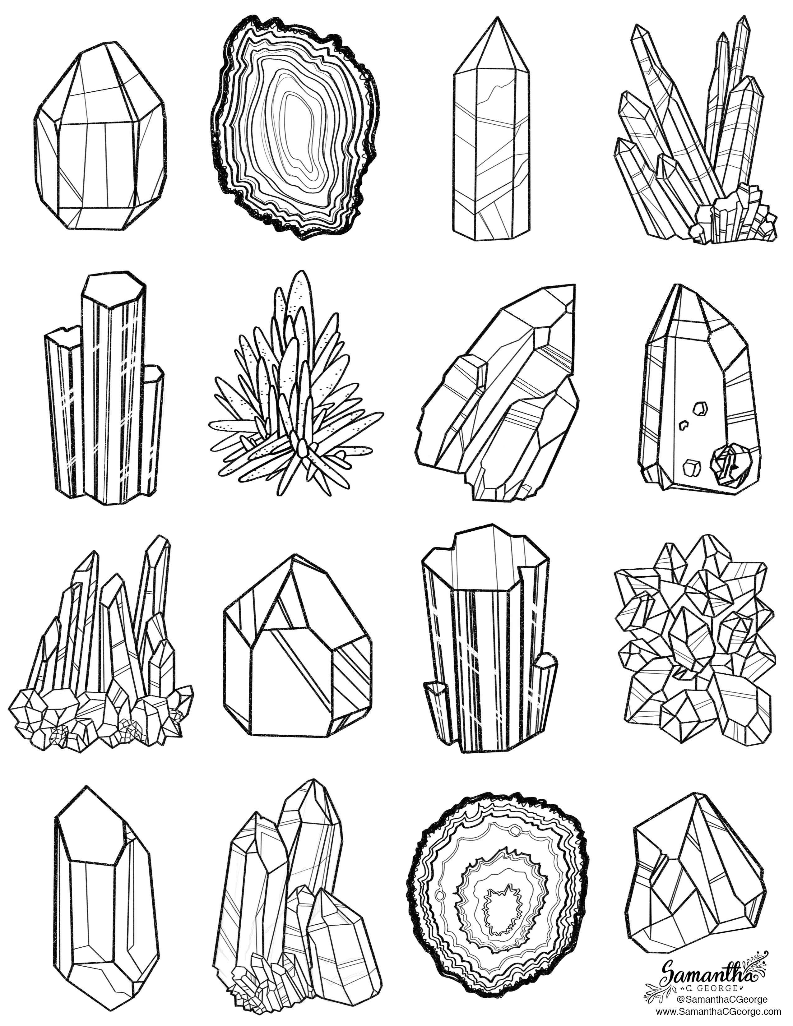 Crystal Coloring Pages  Printable coloring page Printables Pinterest