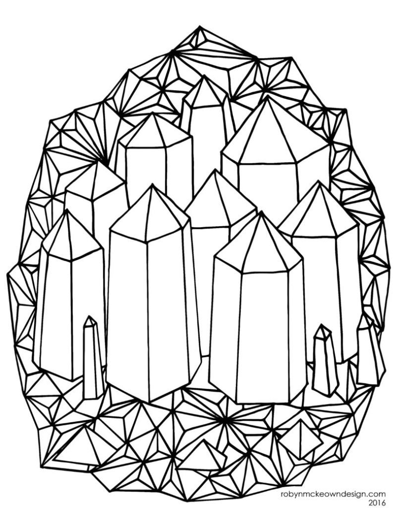 Crystal Coloring Pages  Crystals coloring Download Crystals coloring