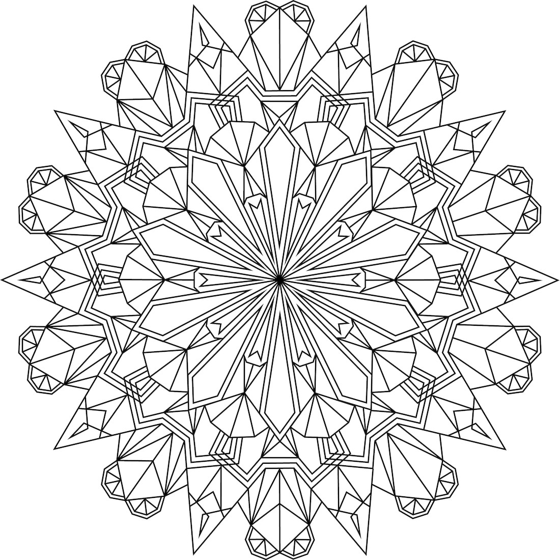 Crystal Coloring Pages  Detailed Coloring Pages For Adults Coloring Home