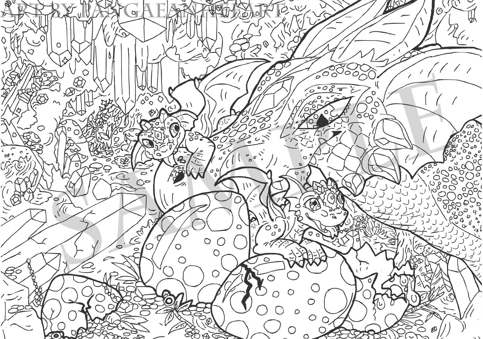 Crystal Coloring Pages  Crystal coloring Download Crystal coloring