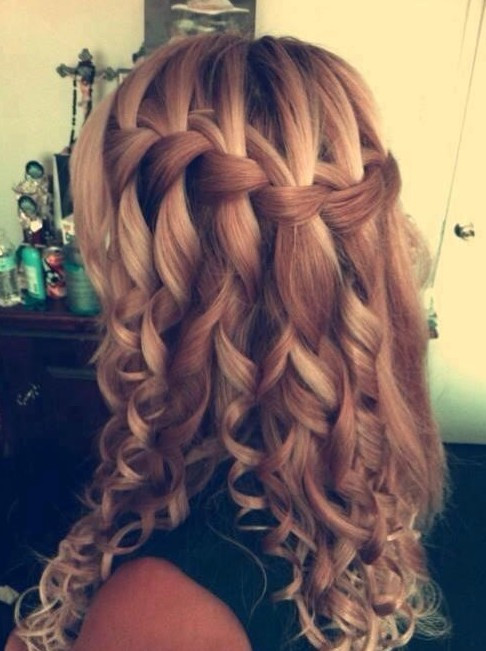 Best ideas about Curls Hairstyles With Braids . Save or Pin Waterfall Braid Hairstyles Weekly Now.