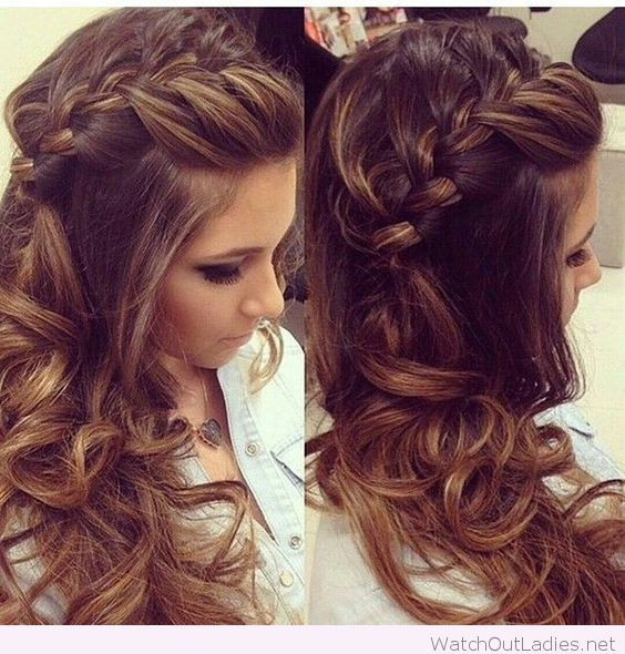Best ideas about Curls Hairstyles With Braids . Save or Pin Side braided hair with curls Now.