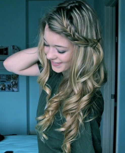 Best ideas about Curls Hairstyles With Braids . Save or Pin Long Curly Hairstyles with Braids PoPular Haircuts Now.