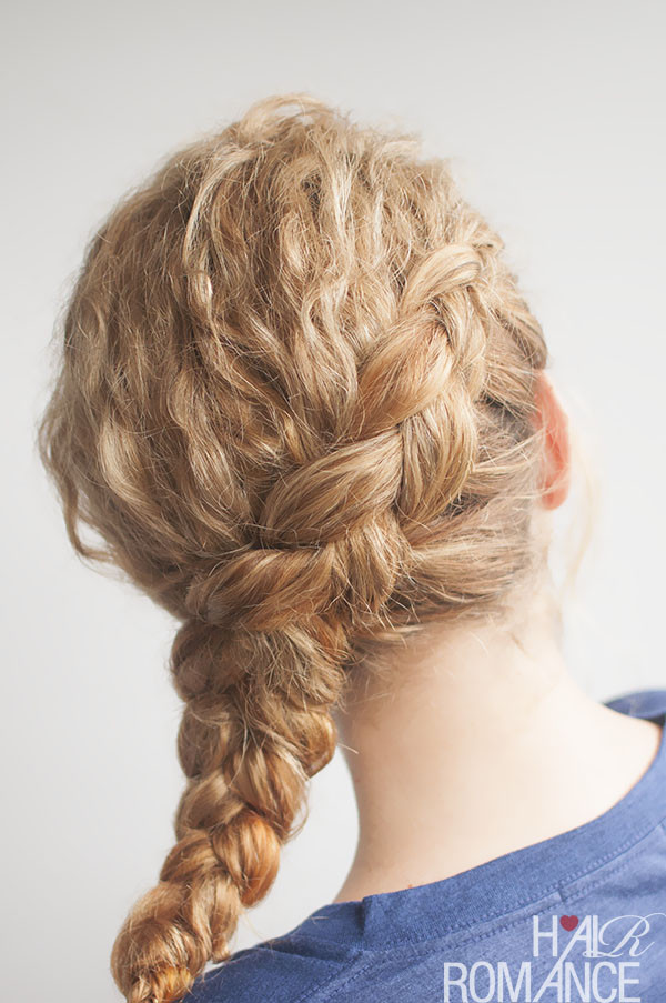 Best ideas about Curls Hairstyles With Braids . Save or Pin Curly side braid hairstyle tutorial Hair Romance Now.