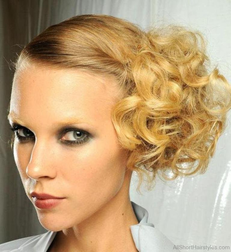 Best ideas about Curly Hairstyles Up Do . Save or Pin 31 Stylish Short Updo Hairstyle Now.