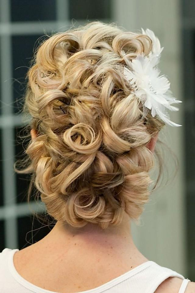 Best ideas about Curly Hairstyles Up Do . Save or Pin Updo Hair Model Curly Updo By Giao Nguyen Now.