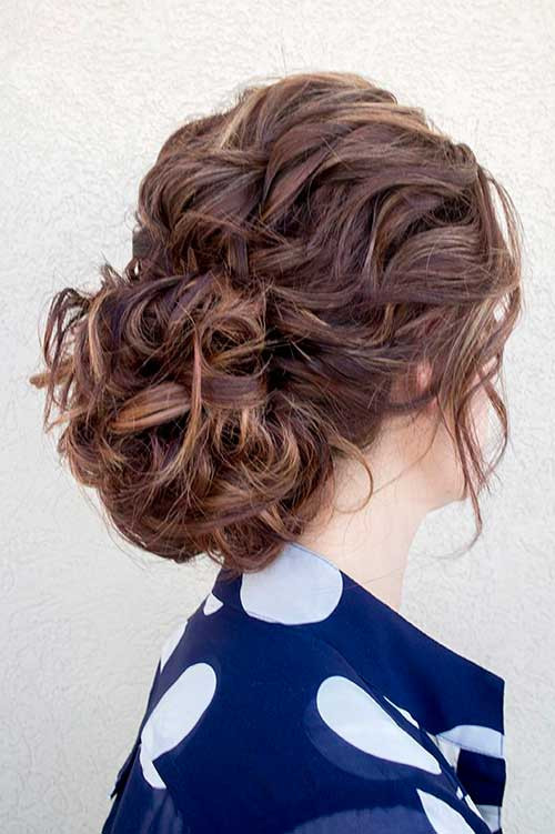 Best ideas about Curly Hairstyles Up Do . Save or Pin 35 Prom Hairstyles for Curly Hair Now.