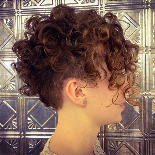 Best ideas about Curly Undercut Hairstyles . Save or Pin Pixie Undercut for Straight and Curly Hair Now.