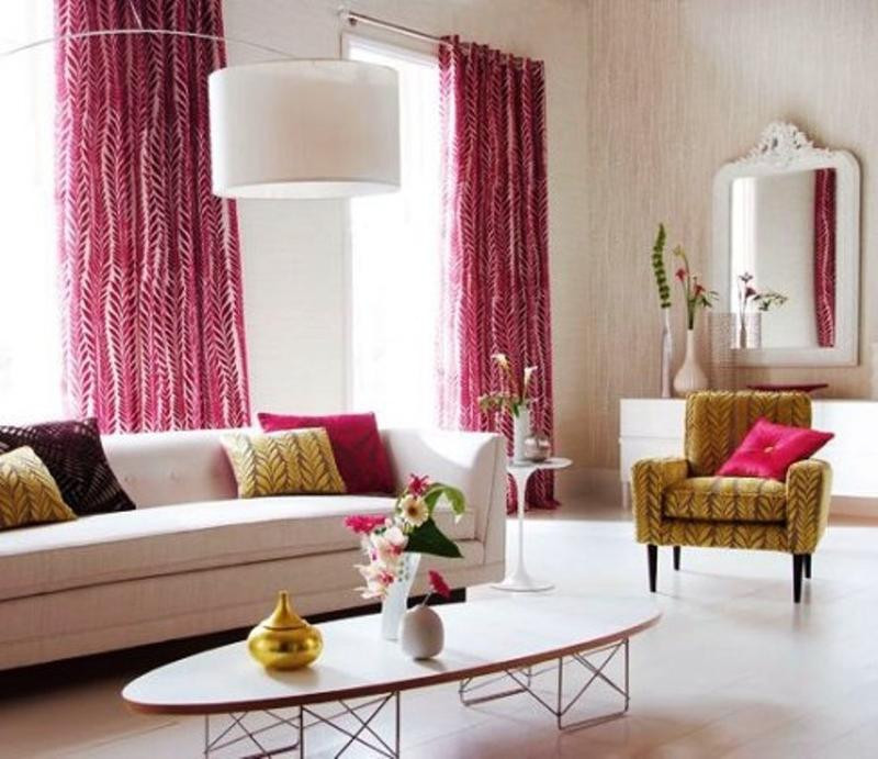 Best ideas about Curtains For Living Room . Save or Pin 15 Lively and Colorful Curtain Ideas for the Living Room Now.