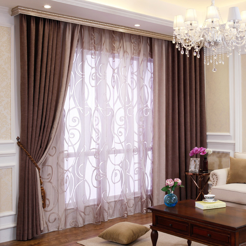 Best ideas about Curtains For Living Room . Save or Pin Bedroom or Living Room Chenille Blackout curtains drapes Now.