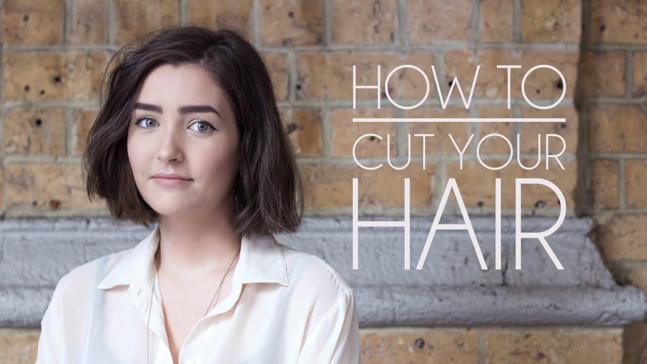 Cut Your Own Hair Short  How to Cut Your Own Hair Short Hair Bob