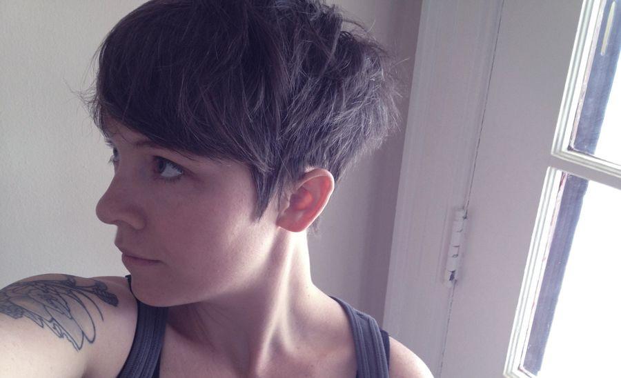Cut Your Own Hair Short  Pixie Cut Selfcut Goinpixie How Your Own Hair Short