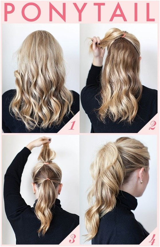 Cute And Fast Hairstyles  15 Cute and Easy Ponytail Hairstyles Tutorials PoPular
