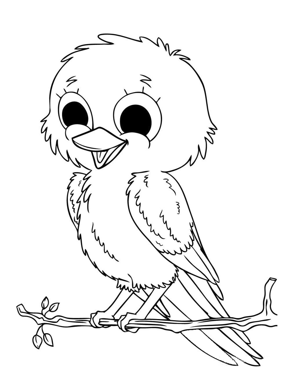 Cute Animal Coloring Pages For Girls  Baby Animal Coloring Pages