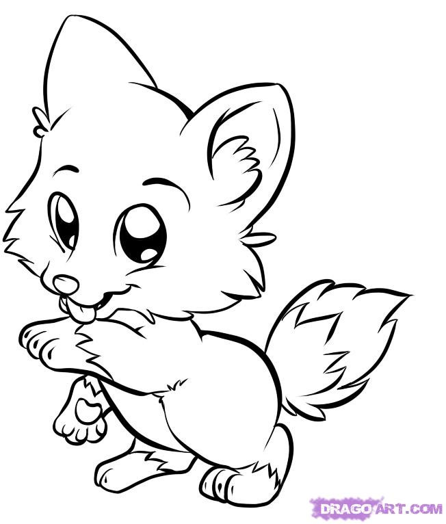 Cute Animal Coloring Pages For Girls  Cute Animal Coloring Pages For Girls AZ Coloring Pages