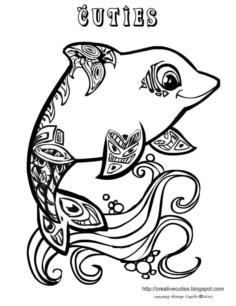 Cute Animal Coloring Pages For Girls  Quirky Artist Loft Cuties Free Animal Coloring Pages