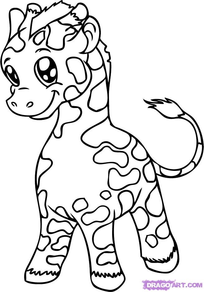 Cute Baby Animals Coloring Pages  Cute Baby Animal Coloring Pages Coloring Home