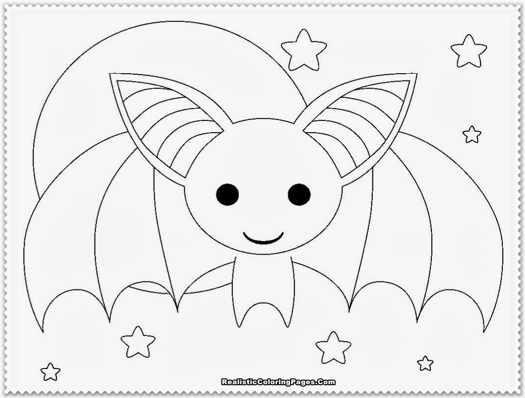 Cute Bat Coloring Pages  Realistic Bat Coloring Pages