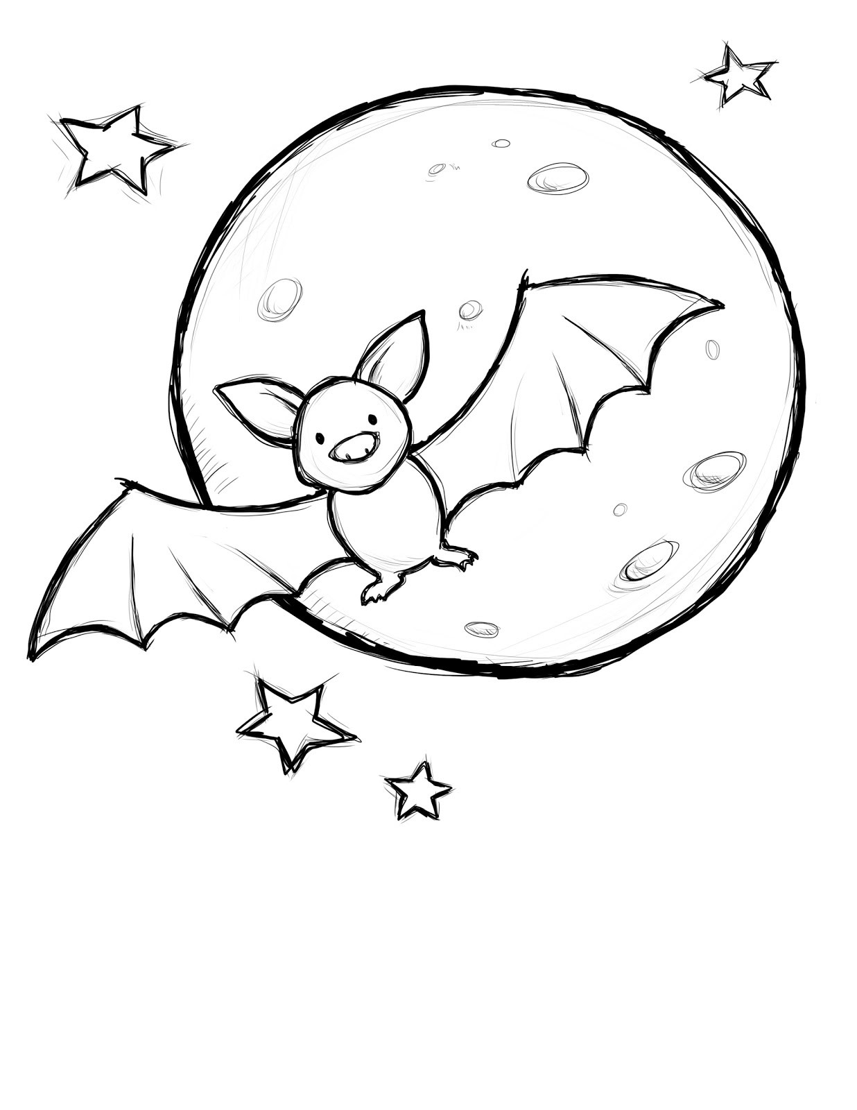 Cute Bat Coloring Pages  creatively christy Halloween Craft 4 Halloween Coloring