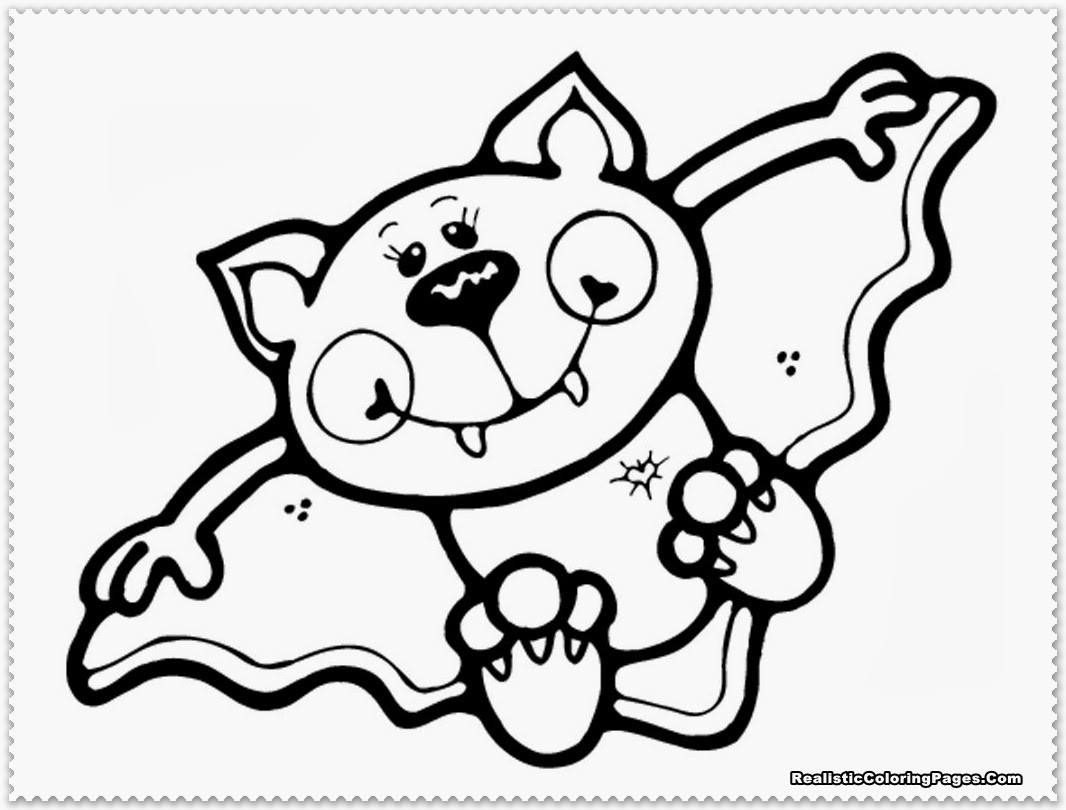 Cute Bat Coloring Pages  Cute Halloween Bat Coloring Pages – Festival Collections