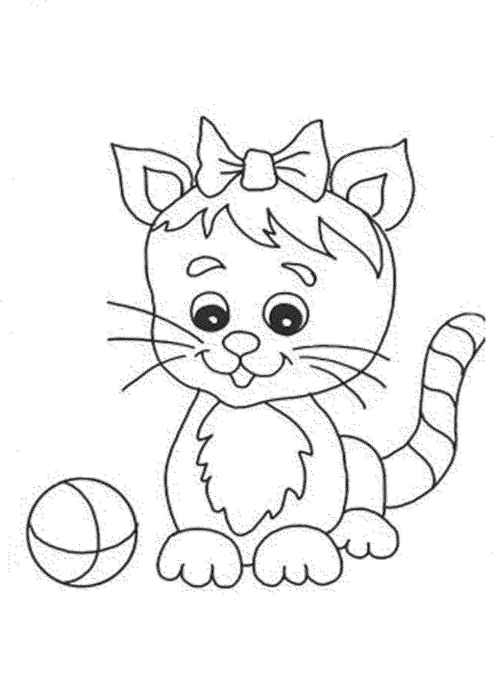 Cute Cat Coloring Pages  Cute Cat Coloring Pages coloringsuite