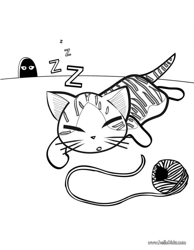 Cute Cat Coloring Pages  Cute Cat Coloring Pages Bestofcoloring