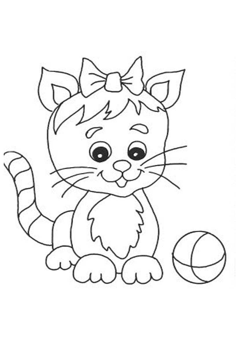 Cute Cat Coloring Pages  cute cat coloring pages