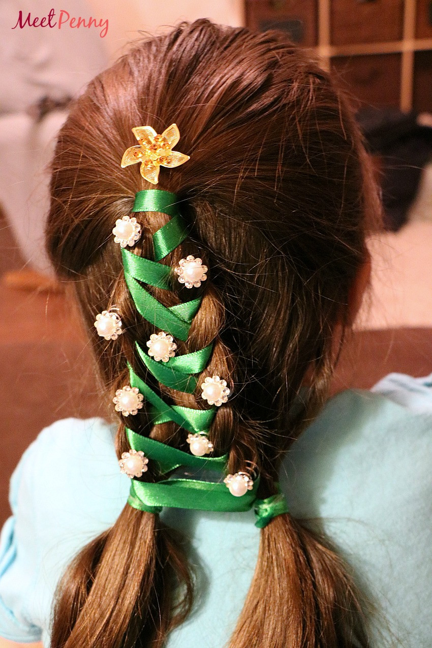 Cute Christmas Hairstyles  Christmas Tree Braid Kit for Girls Meet Penny