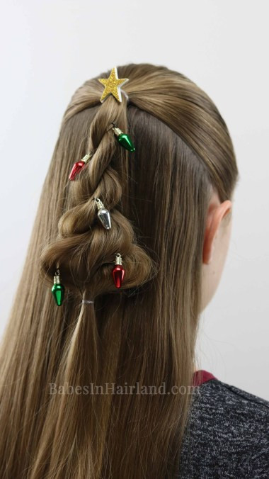 Cute Christmas Hairstyles  Twisted Christmas Tree Hairstyle