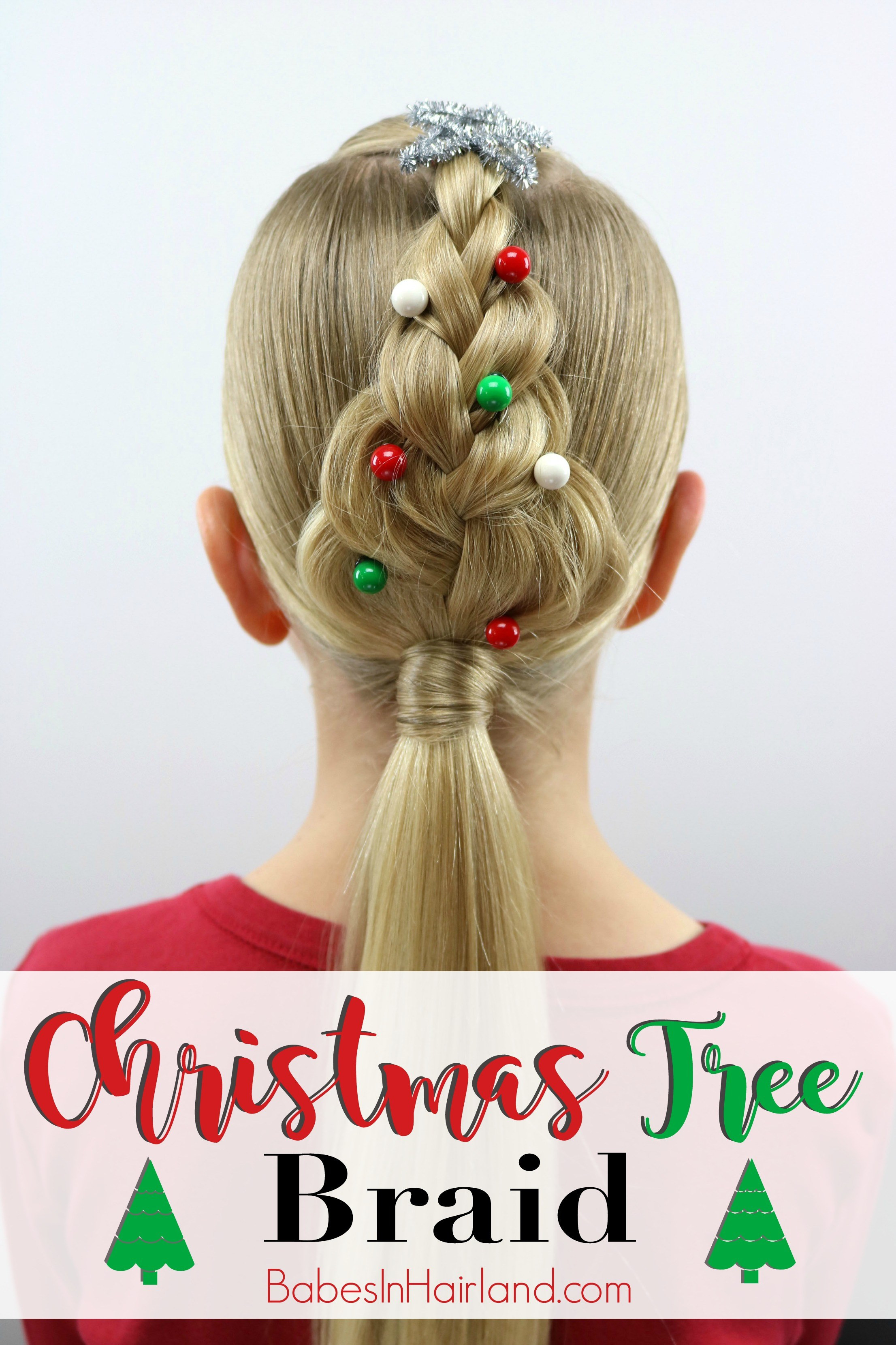 Cute Christmas Hairstyles  Christmas Tree Braid Babes In Hairland