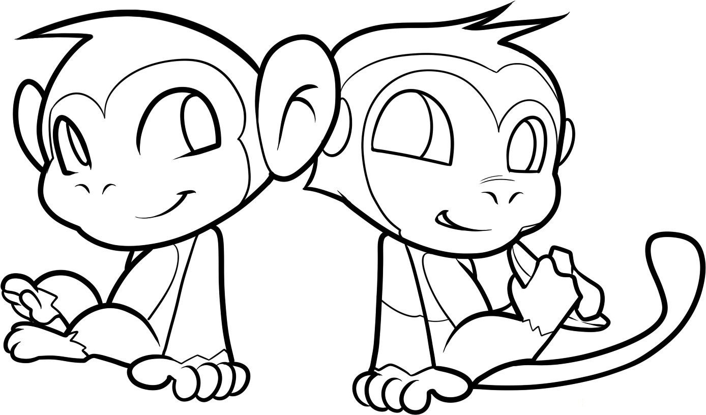 Cute Coloring Pages  Free Printable Monkey Coloring Pages For Kids