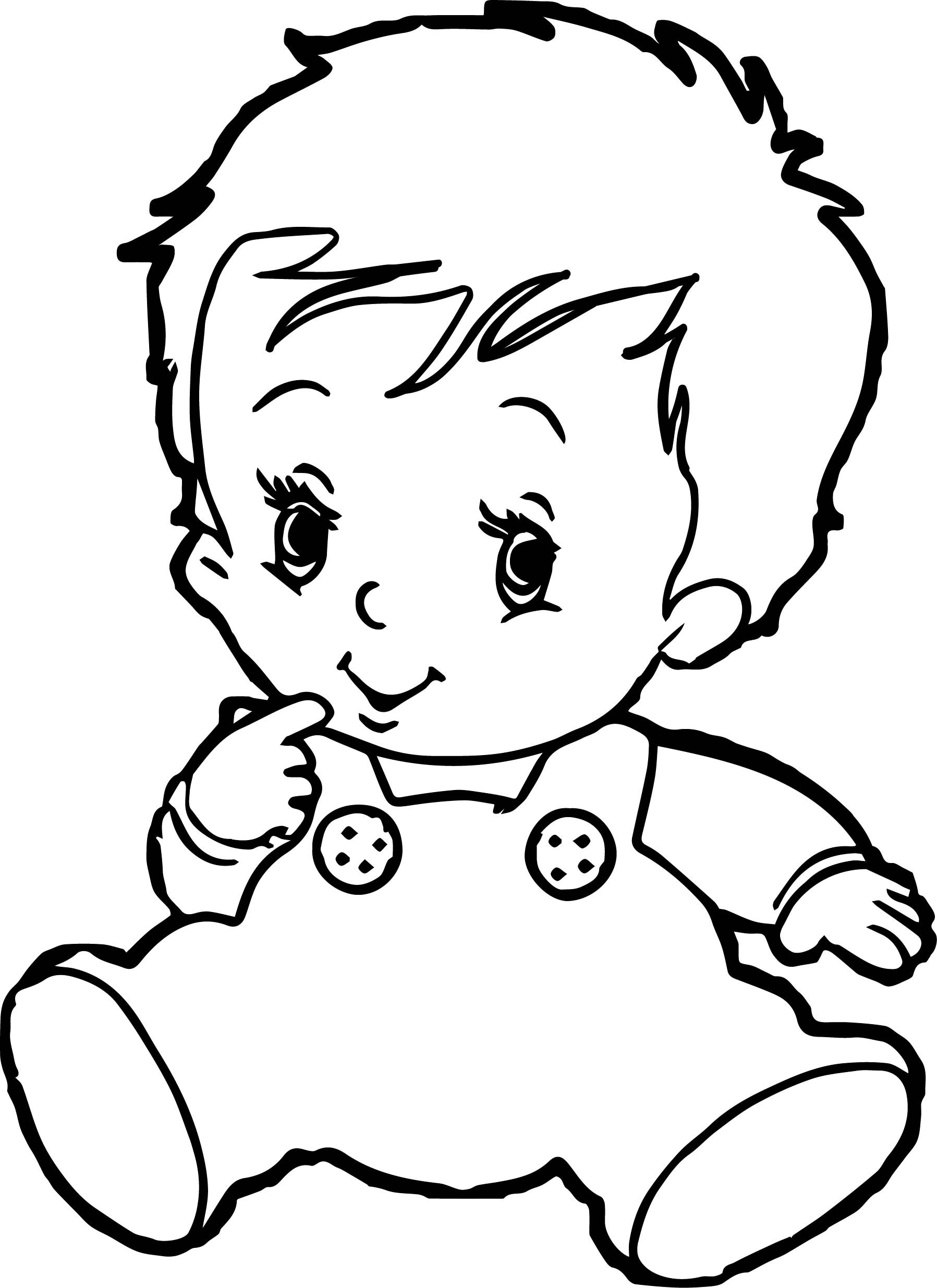 Cute Coloring Pages For Boys  Baby Boy Coloring Pages