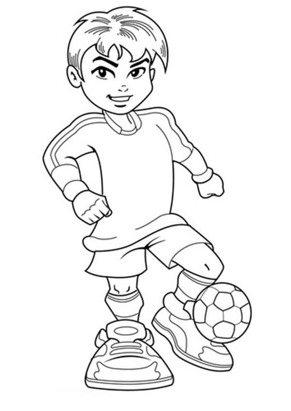 Cute Coloring Pages For Boys  A Cute Boy on plete Soccer Jersey Coloring Page A Cute