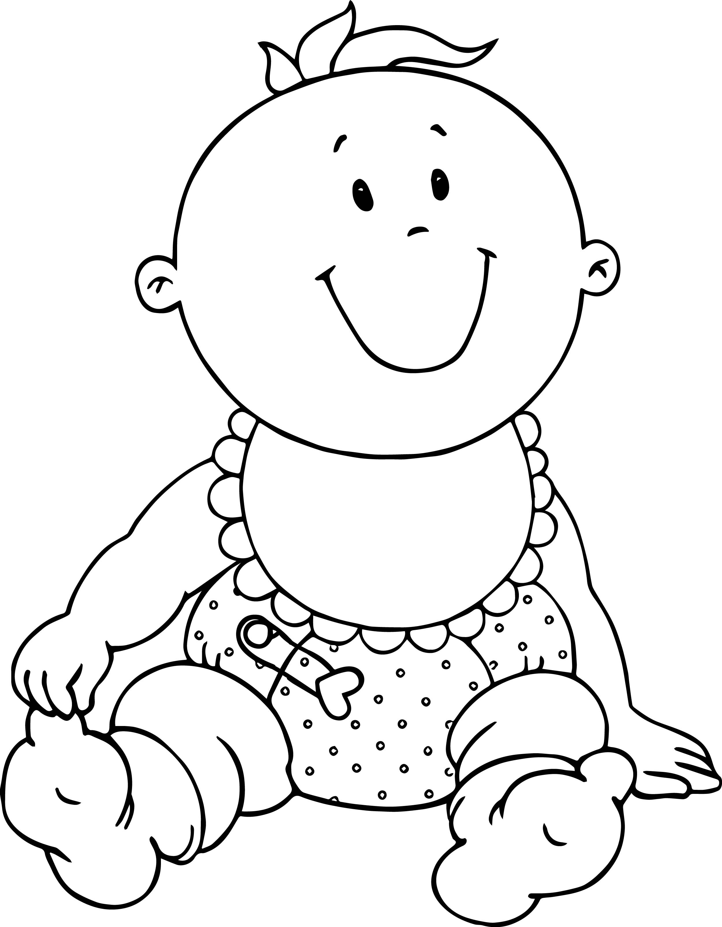 Cute Coloring Pages For Boys  Very Cute Baby Boy Coloring Page