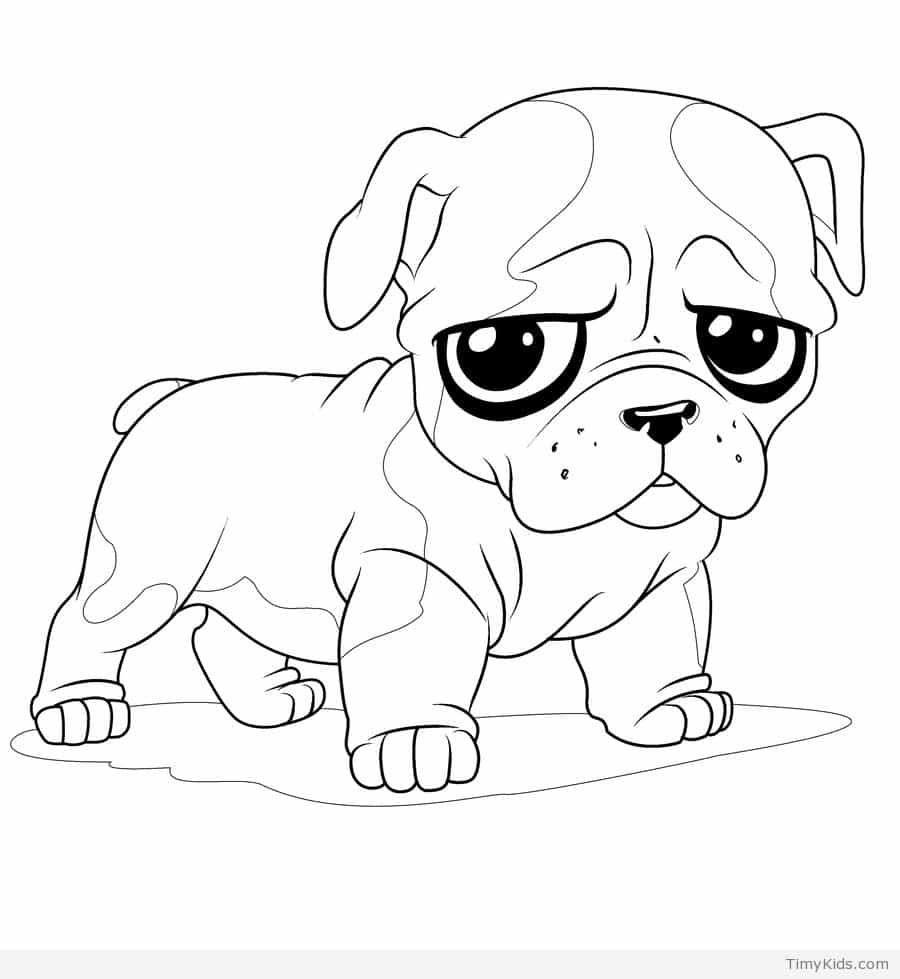 Cute Coloring Pages  30 puppy coloring pages